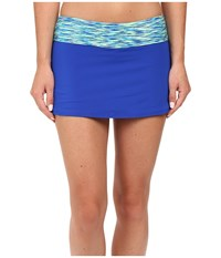 Tyr Sonoma Active Mini Swim Skort Royal Women's Swimwear Navy
