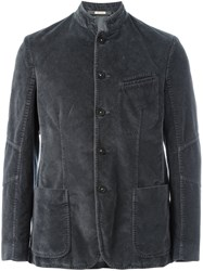 Massimo Alba Buttoned Jacket Grey