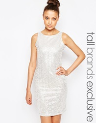 True Decadence Tall Sequin Bodycon Dress Clear