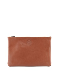 Ghurka Large Leather Document Pouch Brown