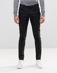 Asos Super Skinny Fit Trousers With 5 Pockets In Charcoal Charcoal Grey