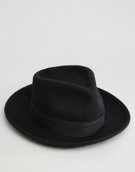 Brixton Fedora Hat Swindle With Wide Brim Black