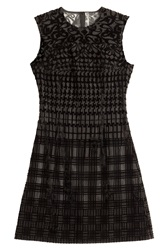 Mary Katrantzou Silk Burnout Cocktail Dress Black