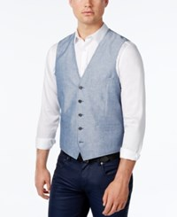 Inc International Concepts Men's Neal Lightweight Chambray Vest Only At Macy's Blue