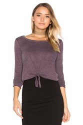 Chaser Tie Front Long Sleeve Tee Purple
