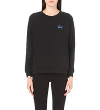 Stussy Print Stretch Cotton Sweatshirt Black
