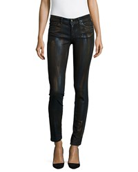 Just Cavalli Metallic Coated Skinny Jeans Black