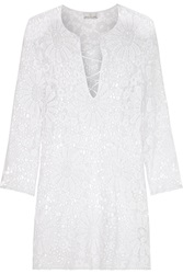 Miguelina Darcie Macrame Lace Coverup White