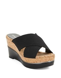 Donald J Pliner Dani Cork Slides Black