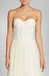 Jenny Yoo Women's Beaded Strapless Lace Bustier Ivory