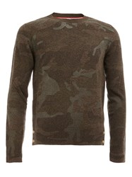 Moncler Gamme Bleu Camouflage Pattern Pullover Grey