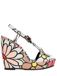 Roger Vivier 110Mm Wedge Chips Cotton Canvas Wedges