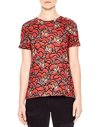 Sandro Wave Printed Tee Red