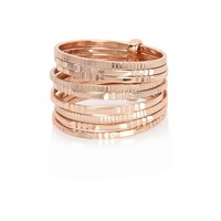 River Island Womens Rose Gold Tone Multi Row Rings