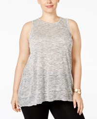 Styleandco. Style Co. Plus Size Space Dye Tank Grey Combo