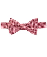 Brooks Brothers Men's Gingham Dot To Tie Bow Tie Red
