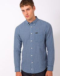 Lee L880 Button Down Shirt Washed Blue