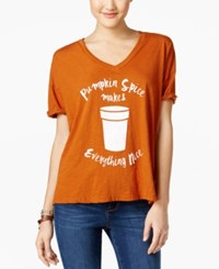 Retro Brand Pumpkin Spice Graphic T Shirt Auburn