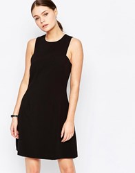 New Look Fit And Flare Tailored Dress Black