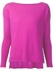 Ralph Lauren Black Label Ralph Lauren Black Boat Neck Sweater Pink And Purple