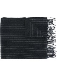 Polo Ralph Lauren Striped Knit Scarf Grey