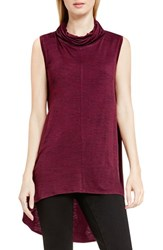 Vince Camuto Women's Two By Space Dye Cowl Neck Tunic Raisin