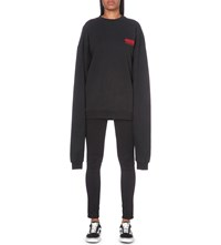 Hood By Air Little Lamb Cotton Jersey Sweatshirt Black