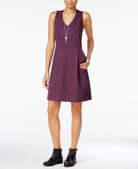 Maison Jules V Neck Fit And Flare Dress Only At Macy's Plum Perfect