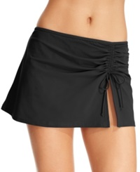 Profile By Gottex Ruched Swim Skirt Women's Swimsuit Black