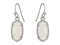 Kendra Scott Lee Earring Rhodium Iridescent Drusy Earring Silver