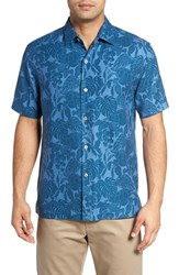 Tommy Bahama Men's Big And Tall Turtle Cove Silk Camp Shirt