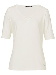 Betty Barclay Short Sleeve Scoop Neck Top Off White