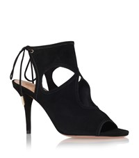 Aquazzura Sexy Thing 85 Suede Sandal Female Black