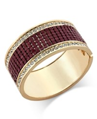 Thalia Sodi Gold Tone Crystal Hinged Bangle Bracelet Only At Macy's Berry