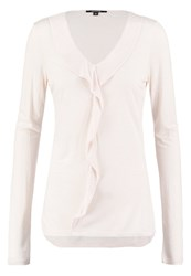 Comma Long Sleeved Top Nude Offwhite
