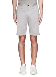 Theory 'Brucer Bf' Garment Dyed Cotton Shorts Grey
