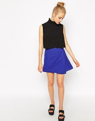 Fashion Union Wrap Skirt With Pleating Cobaltblue