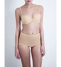 Wolford Tulle Underwired Push Up Bra Nude