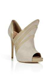 Alejandro Ingelmo Sand Suede Triple Layered Booties Beige