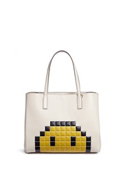 Anya Hindmarch 'Pixel Smiley Shopper Ebury' Leather Tote Multi Colour