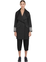 Space Style Concept Embroidered Techno Duchesse Coat