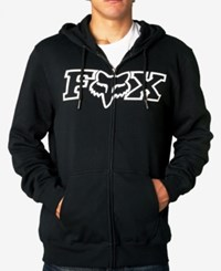 Fox Men's Graphic Print Hoodie Black