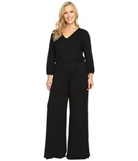 Rachel Pally Plus Size Clancy Jumpsuit White Label Black Women's Jumpsuit And Rompers One Piece