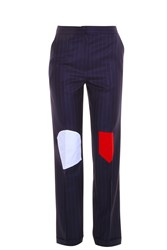 Jacquemus Pinstripe Patch Trousers