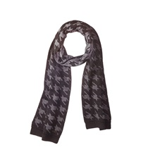 Ted Baker Twenton Scaled Houndstooth Scarf Charcoal Scarves Gray