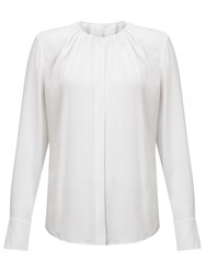 Boss Logo Boss Banora2 Silk Blouse White
