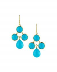 Elizabeth Showers Audrey Turquoise Chandelier Earrings Blue