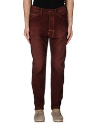 Uniform Casual Pants Dark Brown