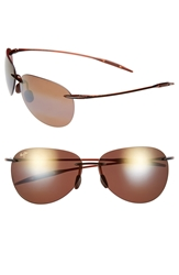 Maui Jim 'Sugar Beach Polarizedplus 2' 62Mm Rimless Sunglasses Rootbeer