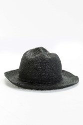 Urban Outfitters Uo Hand Crushed Fedora Black